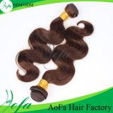 100%の加工されていない人間の毛髪の拡張ブラジルのバージンの毛