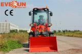 Everun 800 кг мини-колесный погрузчик с регулируемыми Вилы для поддонов
