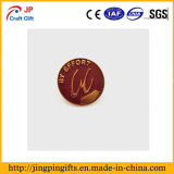 Customized gold plating Round Pin de lapela