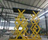 Doppelte Spalte-hydraulisches vertikales Auto Scissor Aufzug