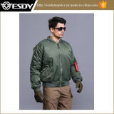 Army Green American Bomber Jacket Windproof Men's Warm Coat