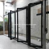 2018 último projeto de liga de alumínio porta rebatível Bi isolados