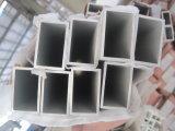 Tubo rectangular de aluminio termolacado en color blanco lechoso 6061 T6