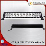 barre d'éclairage LED de rangée de 23inch 10W Singel avec l'endroit/inondation/faisceau combiné