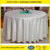 別の様式ポリエステル品質の表のランナーが付いている白いテーブルクロスか表の衣服