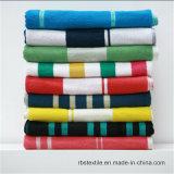 高品質の100%年の綿のジャカードビーチタオル浜毛布