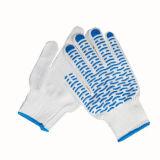 PVC de alta calidad de algodón de puntos Waven guantes de seguridad