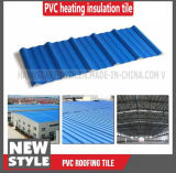 La toiture anti-calorique couvre les types ondulés en plastique de panneau de revêtement intérieur de mur de PVC