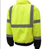 Revestimento reflexivo do inverno da segurança de tráfego do Workwear das listras da fábrica uniforme