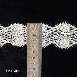 Cordón del Organza de China, tela del cordón del bordado, cordón blanco L091 de la flor de Rose