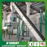 Pelotilla de bambú del serrín que hace la línea proyecto del carcelero del granulador de la biomasa