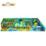 Stationnement en plastique de château de jeu de glissière d'enfants de matériel d'intérieur bon marché du jeu