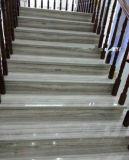 磨かれた中国の水晶木製の静脈の白い大理石の平板