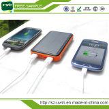 Impermeable banco de la energía dual USB 10000mAh solar universal