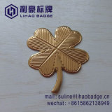 Custom четыре формы листьев золотой этикетке флакона из алюминия
