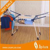 Стеллаж для просушки одежд складного металла оптовой цены материальный напольный (JP-CR0504W)