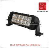 LED 차 빛 11 인치 36W 도로 빛과 LED 모는 빛 떨어져 SUV 차 LED를 위해 방수 두 배 줄 LED 표시등 막대