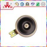 Chifre elétrico do disco preto para acessórios da motocicleta