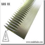 Dentadas HSS una cuchilla de corte para el envasado de la industria de la máquina de sellado