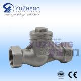 Válvula de retenção de tipo vertical de mola de aço inoxidável