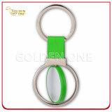 Verkaufsschlager-bedruckbare runde Form-spinnende Metallfördernde Schlüsselkette