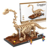 6739028-Bloc de construction de l'ABS Brachiosaurus jouet pour renforcer la coopération sociale Capacité