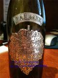 ワイン・ボトルのためのカスタム旧式な銀製の金属のピューターのステッカーのラベル