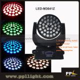 luce capa commovente dello zoom LED di 36pcsx10W 4in1