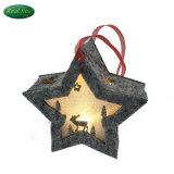 Decorazione & regali d'attaccatura delle stelle di natale illuminati panno Handmade di 100%