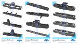 Estándar Flat-Topped recto de acero cadenas de transporte, Personalizado