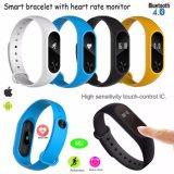 Braccialetto astuto di Bluetooth del più nuovo Wristband con il video m2 di frequenza cardiaca