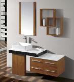 自然な木製のベニヤの浴室用キャビネット