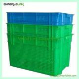 Vários tamanhos Nestable ventilada de plástico empilháveis e recipiente de frutas