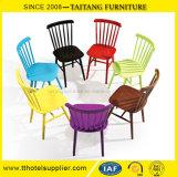 Cadeira colorida do café da cadeira do ferro da cadeira de Windsor da réplica