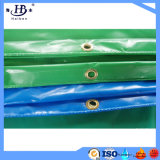 La bâche de protection de PVC, PVC a enduit la bâche de protection de la virole et de la corde