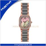 Het veelkleurige Horloge van het Kwarts van het Horloge van het Roestvrij staal van de Manier in IP Bruin Plateren