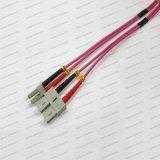 Cordon de connexion de fibre optique de PVC LSZH de Sc-LC Om1/Om2/Om3/Om4/Sm/mm Sx/Dx 2.0/3.0