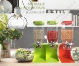 Caixa de armazenamento de alimentos secos recipiente de cozinha dispensador dispensador de alimentos à base de cereais.
