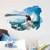 Sport smontabili degli autoadesivi della parete degli autoadesivi 3D che praticano il surfing