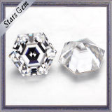 Super blanc de forme hexagonale Moissanite synthétique sur la vente