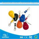 125kHz /13.56MHz preiswertes PLASTIKRFID Keyfob ledernes Keychain