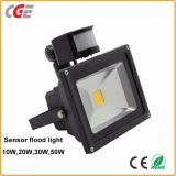 Der im Freienlampen-Infrarot-PIR Flut-Lichter Bewegungs-des Fühler-LED mit Flut-Lichtern 85V-265V des Cer-10With20With30With50W LED