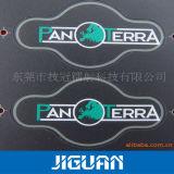 Custom лазерный Карвинг серийный номер печатной машины и шелк трафаретная печать пластиковую наклейку