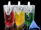 Suco Doypack transparente de plástico OEM beber líquidos Saco de embalagem da Calha