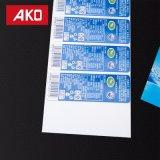 De voorgedrukte Blauwe Glanzende Enige ZijBroodjes van het Etiket van de Sticker van de Laag BOPP Zelfklevende