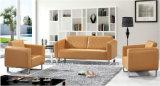 Горячие продажи популярных ожидания диван Office кожаный диван 1+1+3 (BL зажима GAD-9908)