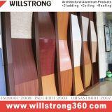 Panneau composé en aluminium de fini en bois pour la décoration de système/fasce/signe/présentoir