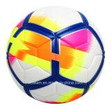 Шарик футбола PU нестандартной конструкции качества спички кожаный