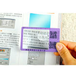 Abitudine con la lente d'ingrandimento per il segnalibro di plastica del PVC