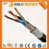 O PVC Sheathed o cabo de controle flexível, XLPE isolado, condutor de cobre, trançar protegido